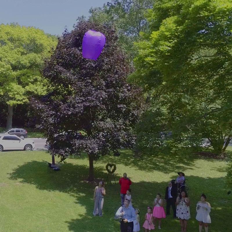 Wedding Drone Shots