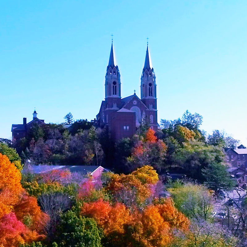 Holy Hill 4K Aerial Video