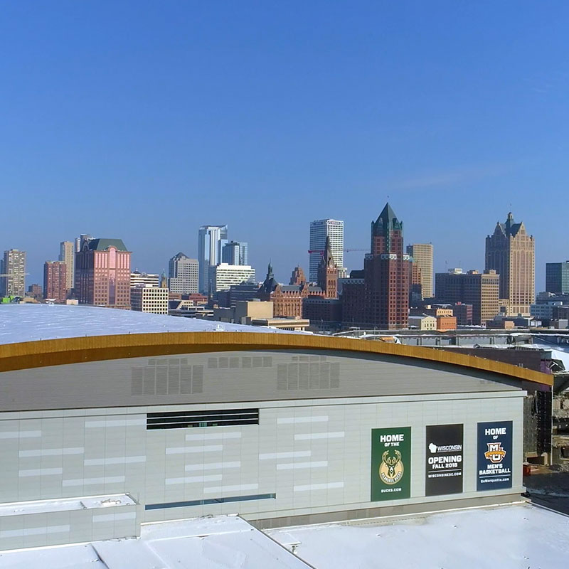 City of Milwaukee Winter Drone Footage